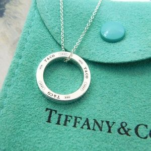 Tiffany & Co Circle Sterling Sliver Pendant